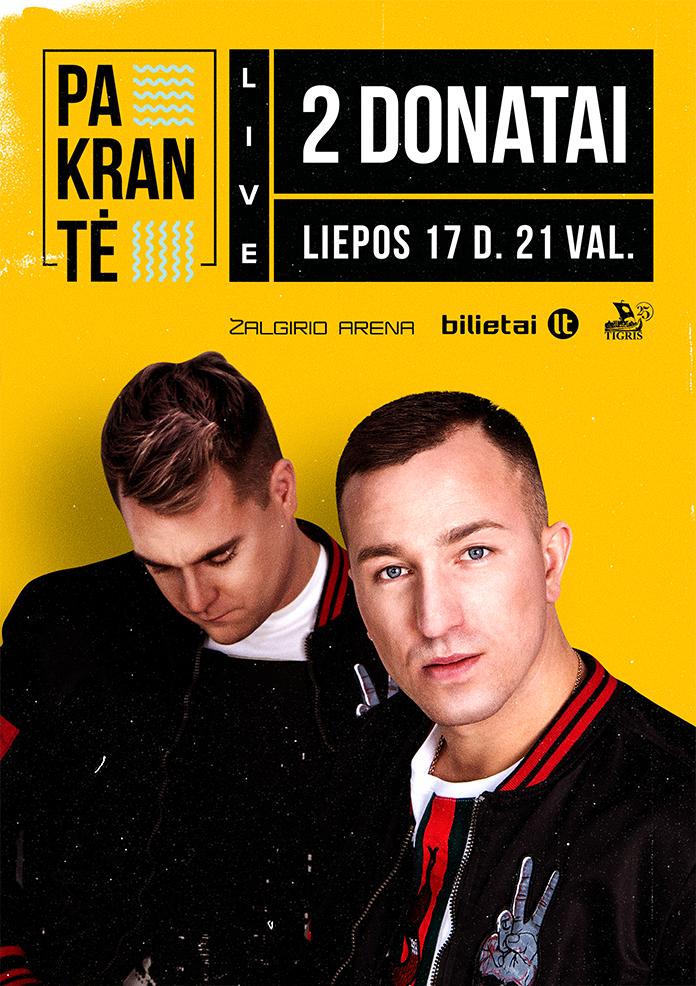 Donatai - Pakrante-Bilietai